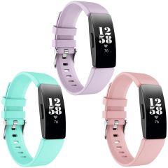 iMoshion Multipack Cinturino in Silicone Fitbit Inspire - Rosa / Turchese / Viola