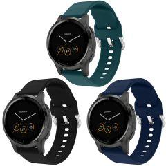 iMoshion Multipack Cinturino in Silicone Garmin Vivoactive 4L - Nero / Verde / Blu