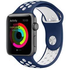iMoshion Cinturino sportivo in Silicone Apple Watch 1 t/m 6 / SE - 38/40mm - Blu