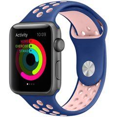 iMoshion Cinturino sportivo in Silicone Apple Watch Series 1 t/m 6 / SE - 42/44mm - Blu / Rosa