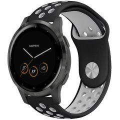iMoshion Cinturino sportivo in Silicone Garmin Vivoactive 4L - Nero / grigio