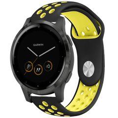 iMoshion Cinturino sportivo in Silicone Garmin Vivoactive 4L - Nero / giallo