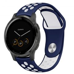 iMoshion Cinturino sportivo in Silicone Garmin Vivoactive 4L - Blu / Bianco