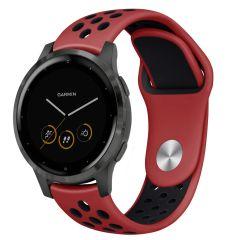 iMoshion Cinturino sportivo in Silicone Garmin Vivoactive 4L - Nero / rosso