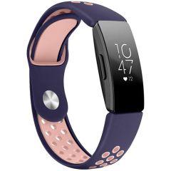 iMoshion Cinturino sportivo in Silicone Fitbit Inspire - Blu / Rosa