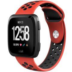 iMoshion Cinturino sportivo in Silicone Fitbit Versa 2 / Lite - Rosso / nero