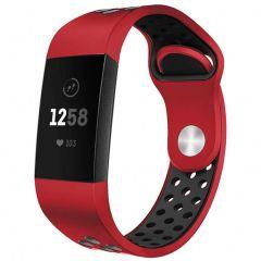 iMoshion Cinturino sportivo in Silicone Fitbit Charge 3 / 4 - Rosso / nero