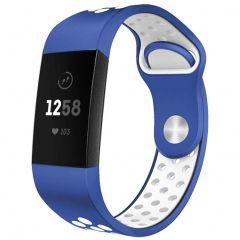 iMoshion Cinturino sportivo in Silicone Fitbit Charge 3 / 4 - Blu / Bianco