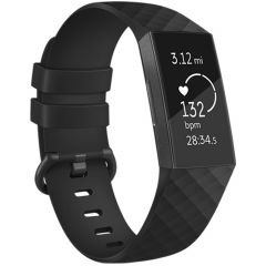 iMoshion Cinturino in Silicone Fitbit Charge 3 / 4 - Nero
