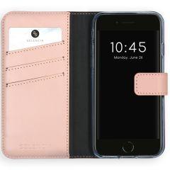Selencia Custodia Portafoglio in Vera Pelle iPhone SE (2020) / 8 / 7 / 6(s) - Rosa
