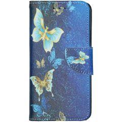 Custodia Portafoglio Flessibile iPhone 11 - Blue Butterfly
