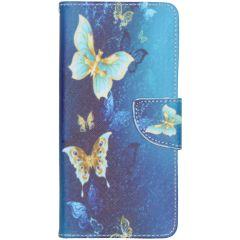 Custodia Portafoglio Flessibile Samsung Galaxy A51 - Blue Butterfly