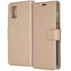 Accezz Custodia Portafoglio Flessibile Samsung Galaxy A31 - Oro