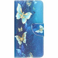 Custodia Portafoglio Flessibile Samsung Galaxy S10 - Blue Butterfly