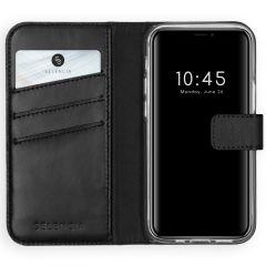 Selencia Custodia Portafoglio in Vera Pelle iPhone 12 Mini - Nero