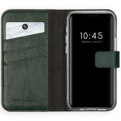 Selencia Custodia Portafoglio in Vera Pelle iPhone 12 Mini - Verde