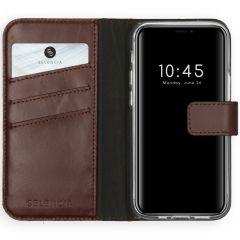 Selencia Custodia Portafoglio in Vera Pelle iPhone 12 Mini - Marrone