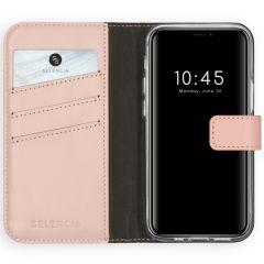Selencia Custodia Portafoglio in Vera Pelle iPhone 12 Mini - Rosa