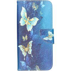 Custodia Portafoglio Flessibile Samsung Galaxy A50 / A30s - Blue Butterfly