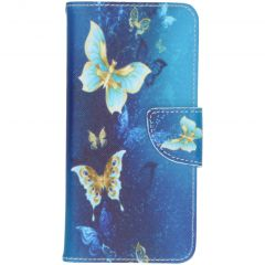 Custodia Portafoglio Flessibile Samsung Galaxy S20 - Blue Butterfly