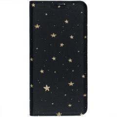 Custodia Portafoglio Design  Samsung Galaxy S10 - Gold Stars Black