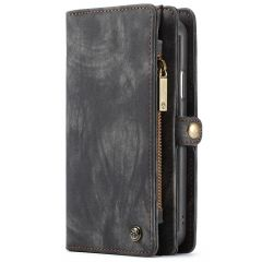 CaseMe Portafoglio 2 in 1 in Pelle de Luxe iPhone X / Xs - Nero