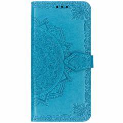 Custodia Portafoglio Mandala Samsung Galaxy S10 - Turchese