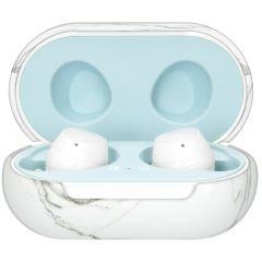 iMoshion Custodia Rigida Samsung Galaxy Buds Plus / Buds - White Marble