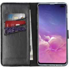 Selencia Custodia Portafoglio in Vera Pelle Samsung Galaxy S10 Plus - Nero