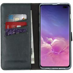 Selencia Custodia Portafoglio in Vera Pelle Samsung Galaxy S10 Plus - Verde