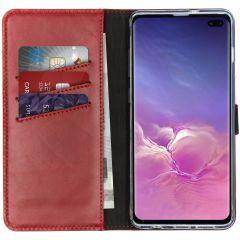 Selencia Custodia Portafoglio in Vera Pelle Samsung Galaxy S10 Plus - Rosso