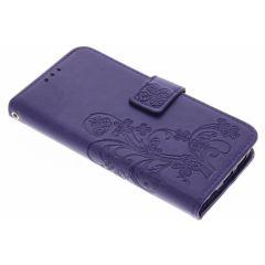 Custodia Portafoglio Fiori di Trifoglio Samsung Galaxy S7 - Viola