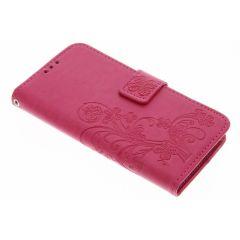 Custodia Portafoglio Fiori di Trifoglio Samsung Galaxy S7 - Rosa