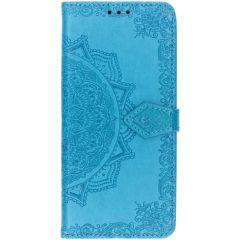 Custodia Portafoglio Mandala Samsung Galaxy S10 Plus - Turchese