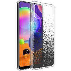 iMoshion Cover Design Samsung Galaxy A31 - Splatter Black