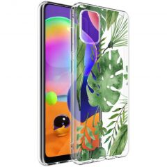 iMoshion Cover Design Samsung Galaxy A31 - Monstera Leaves