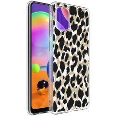 iMoshion Cover Design Samsung Galaxy A31 - Golden Leopard