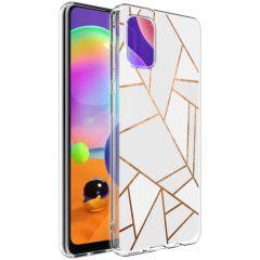 iMoshion Cover Design Samsung Galaxy A31 - White Graphic