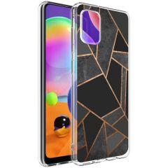 iMoshion Cover Design Samsung Galaxy A31 - Black Graphic