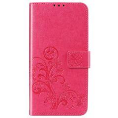 Custodia Portafoglio Fiori di Trifoglio Xiaomi Mi 10 Lite - Fucsia