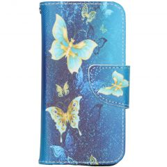 Custodia Portafoglio Flessibile iPhone 12 Mini - Blue Butterfly