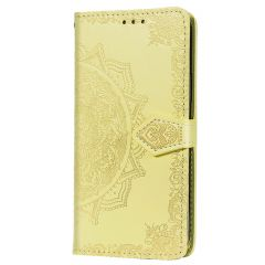 Custodia Portafoglio Mandala iPhone 12 (Pro) - Giallo
