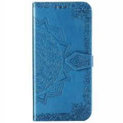 Custodia Portafoglio Mandala iPhone 12 (Pro) - Turchese