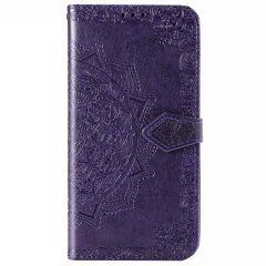 Custodia Portafoglio Mandala iPhone 12 (Pro) - Viola
