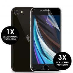 iMoshion Pellicola Protettiva Trasparente 3 Pezzi + Protezione Fotocamera iPhone SE (2020) / 8 / 7