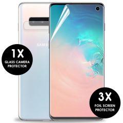 iMoshion Pellicola Protettiva Trasparente 3 Pezzi + Protezione Fotocamera Samsung Galaxy S10
