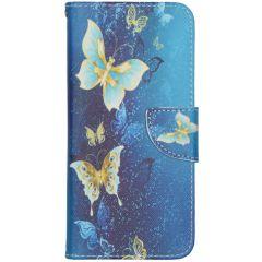 Custodia Portafoglio Flessibile Samsung Galaxy S20 FE - Blue Butterfly
