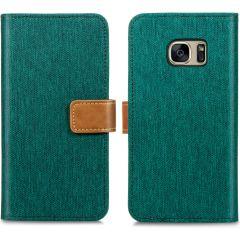 iMoshion Portafoglio Canvas Luxe Samsung Galaxy S7 - Verde