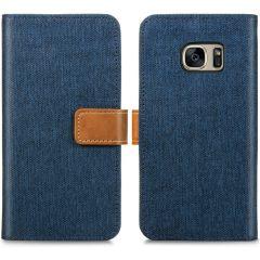 iMoshion Portafoglio Canvas Luxe Samsung Galaxy S7 - Blu scuro