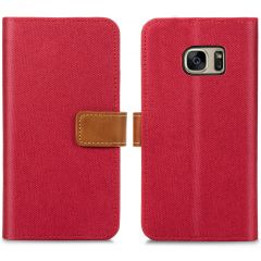 iMoshion Portafoglio Canvas Luxe Samsung Galaxy S7 - Rosso